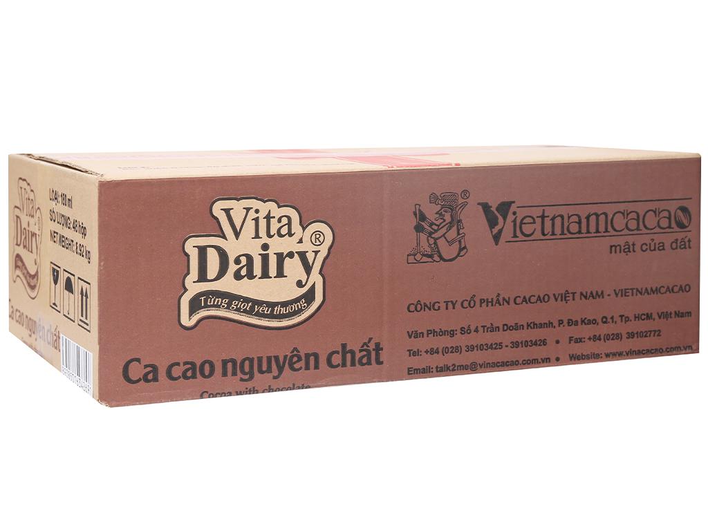 Thùng 48 hộp ca cao nguyên chất Vita Dairy 180ml 1
