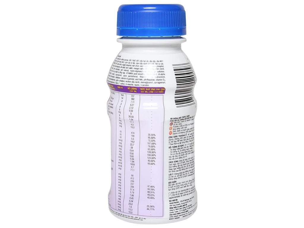 Sữa bột pha sẵn Abbott PediaSure sô cô la 237ml 2