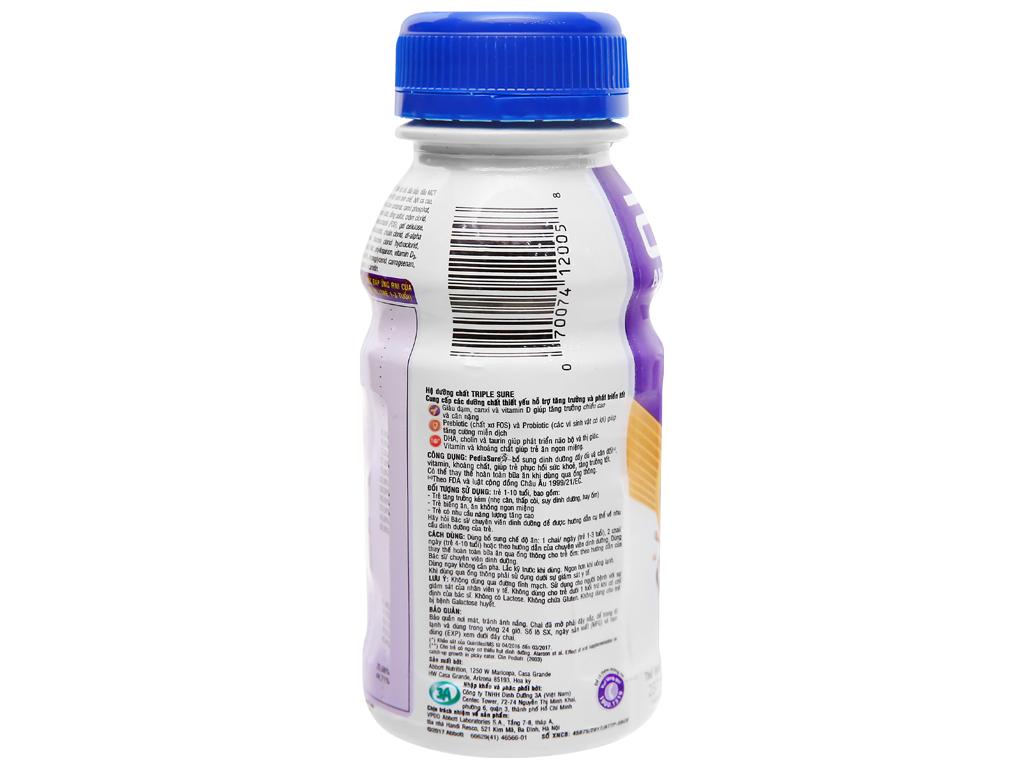 Lốc 6 chai sữa bột pha sẵn Abbott PediaSure socola 237ml 6