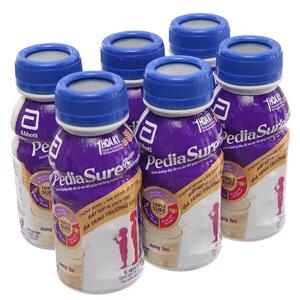 Lốc 6 chai sữa bột pha sẵn Abbott Pediasure vani 237ml