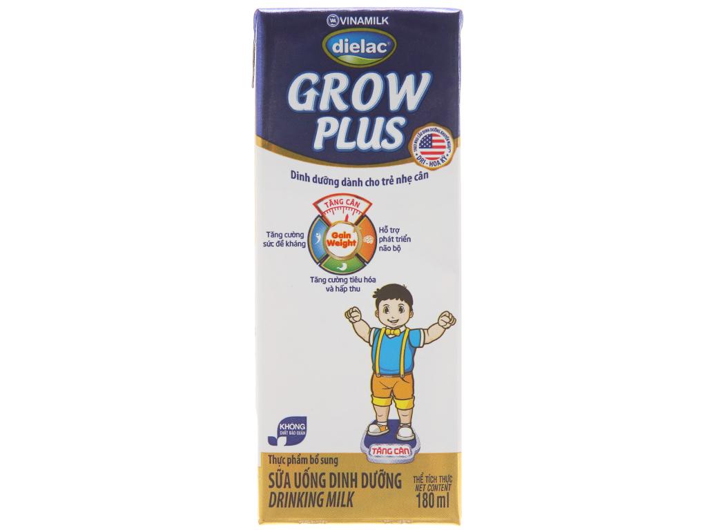 Thùng 48 hộp sữa uống dinh dưỡng Dielac Grow Plus 180ml (cho trẻ nhẹ cân) 3