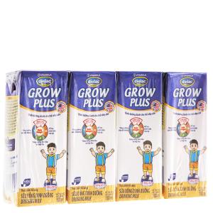 Lốc 4 hộp sữa uống dinh dưỡng Dielac Grow Plus 180ml (cho trẻ nhẹ cân)