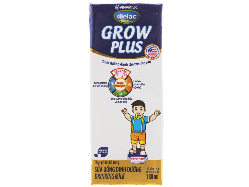 Lốc 4 hộp sữa uống dinh dưỡng Dielac Grow Plus 180ml (cho trẻ nhẹ cân) 3