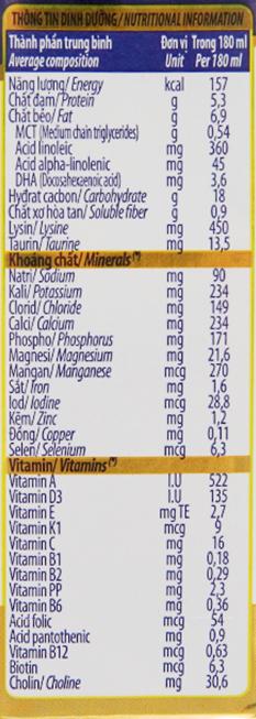 Sữa bột pha sẵn Dielac Grow Plus có đường 180ml 6