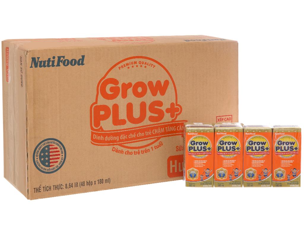Thùng 48 hộp sữa dinh dưỡng pha sẵn NutiFood Grow Plus+ vani 180ml (cho trẻ chậm tăng cân) 2