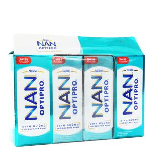 Lốc 4 hộp sữa dinh dưỡng pha sẵn Nestlé Nan Optipro 185ml