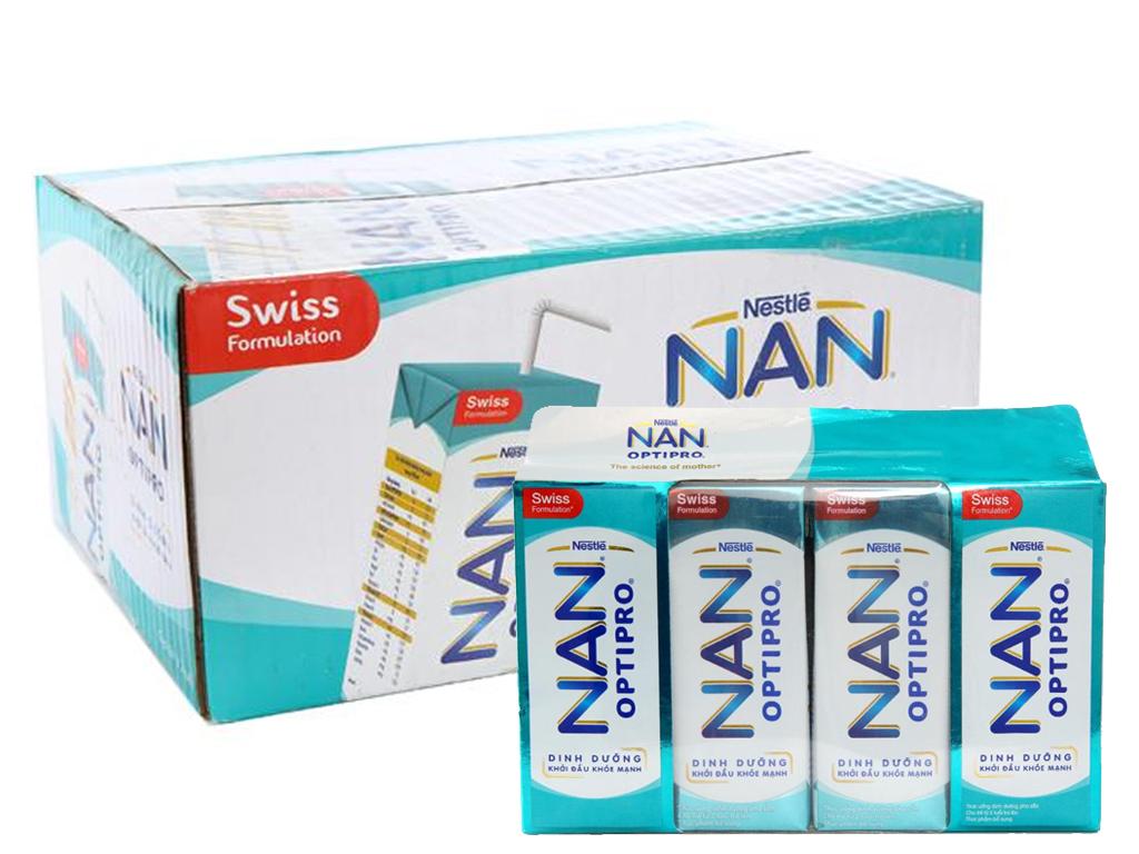Thùng 24 hộp sữa bột pha sẵn Nestlé Nan Optipro 185ml 1