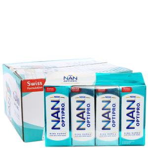 Thùng 24 hộp sữa bột pha sẵn Nestlé Nan Optipro 185ml