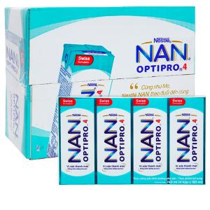 Thùng 24 hộp sữa dinh dưỡng pha sẵn Nestlé Nan Optipro 185ml