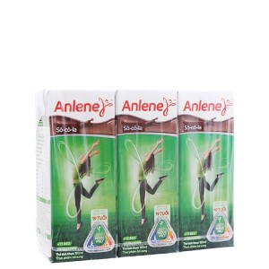 Lốc 3 hộp sữa bột pha sẵn Anlene Movepro socola 180ml