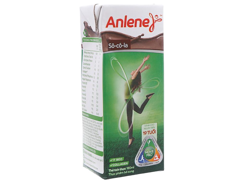 Lốc 3 hộp sữa bột pha sẵn Anlene Movepro sô cô la 180ml 2