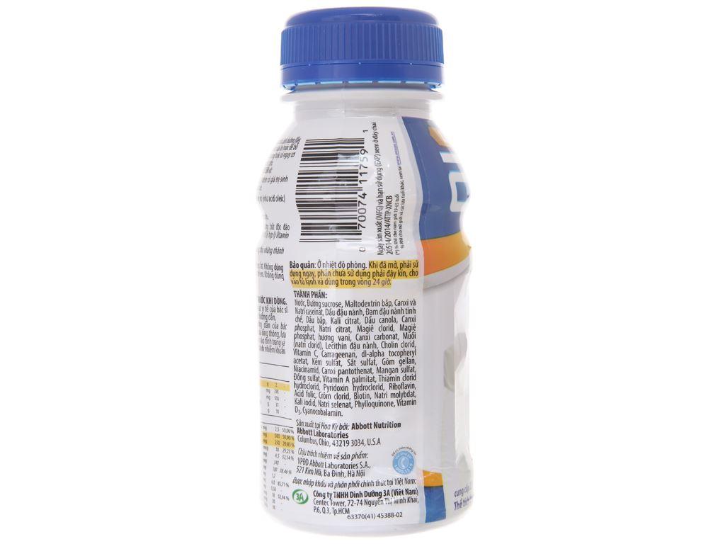 Lốc 6 chai sữa bột pha sẵn Ensure Gold Vigor vani 237ml 4