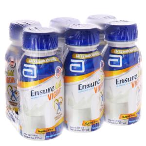 Lốc 6 chai sữa bột pha sẵn Ensure Gold Vigor vani 237ml
