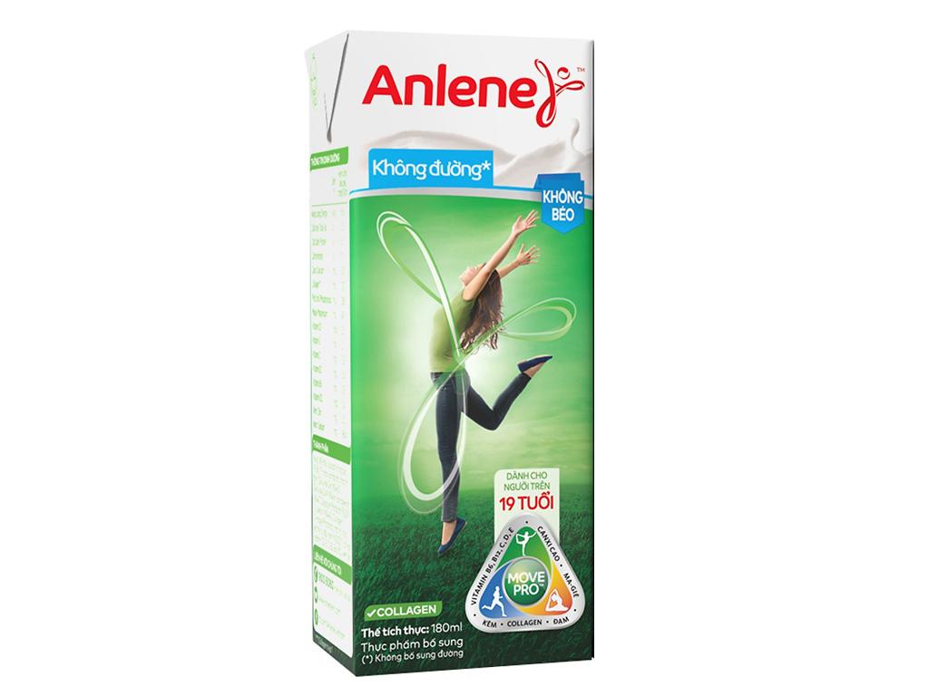 Lốc 3 hộp sữa bột pha sẵn Anlene Movepro không đường 180ml 2