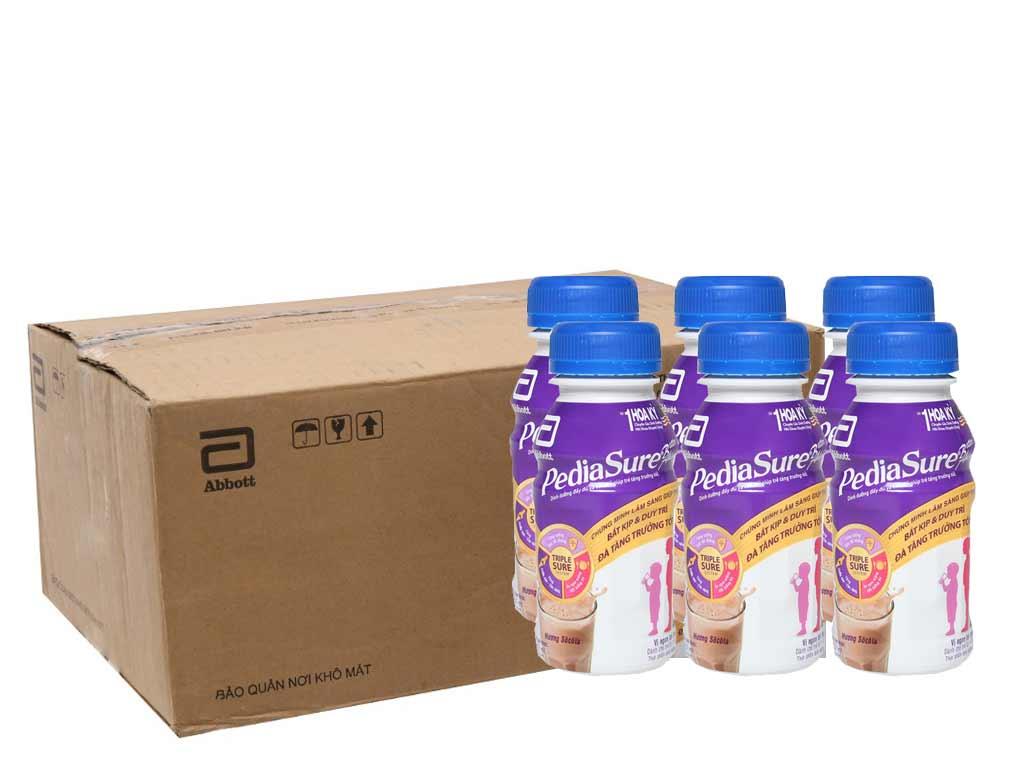 Thùng 24 chai sữa bột pha sẵn Abbott PediaSure socola 237ml 1
