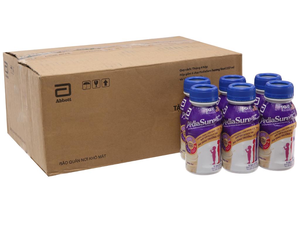 Thùng 24 chai sữa bột pha sẵn Abbott PediaSure vani 237ml 2