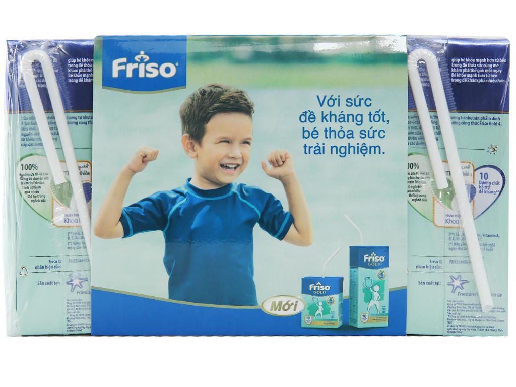 Lốc 4 hộp sữa uống dinh dưỡng Friso Gold vani 180ml 2