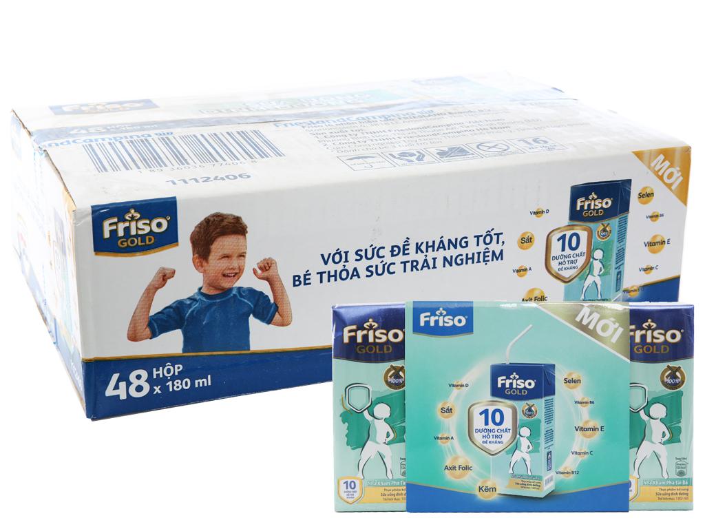 Thùng 48 hộp sữa bột pha sẵn Friso Gold vani 180ml 1