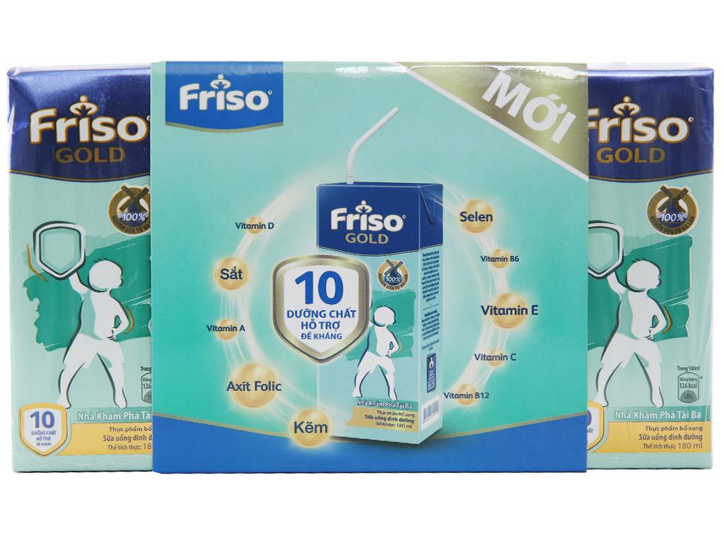 Thùng 48 hộp sữa bột pha sẵn Friso Gold vani 180ml 2