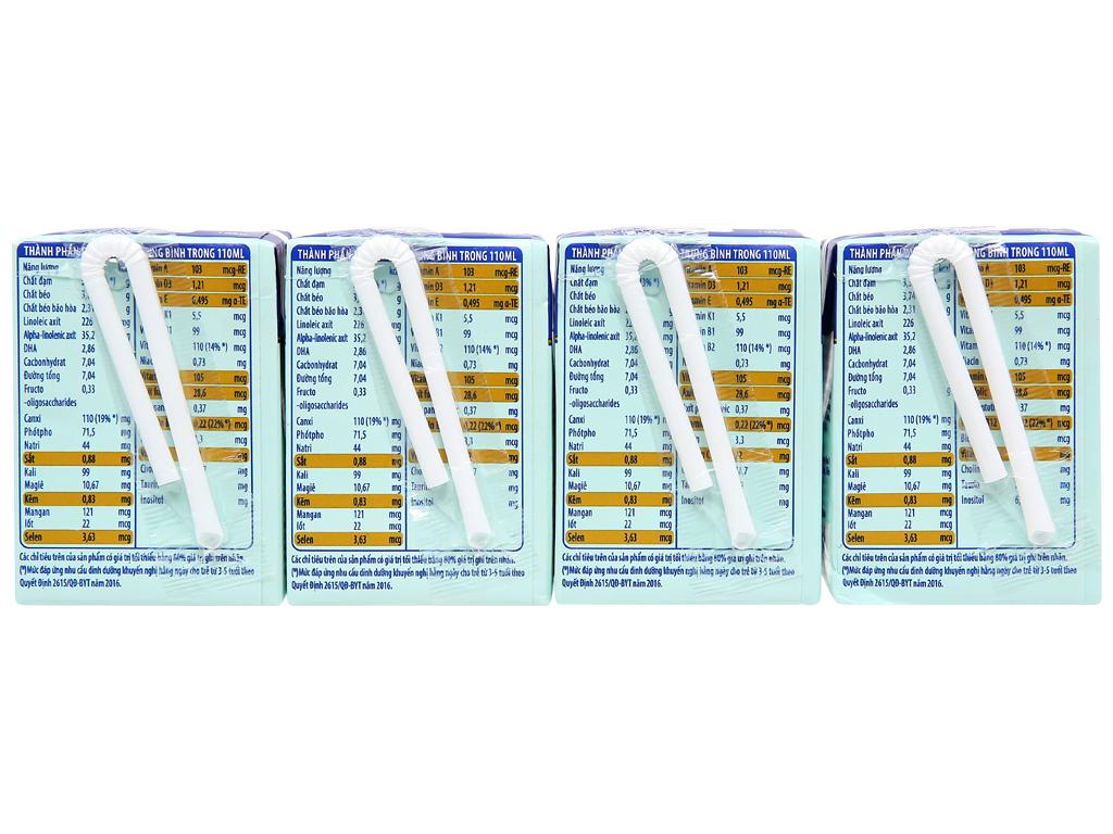 Lốc 4 hộp sữa uống dinh dưỡng Friso Gold vani 110ml 6