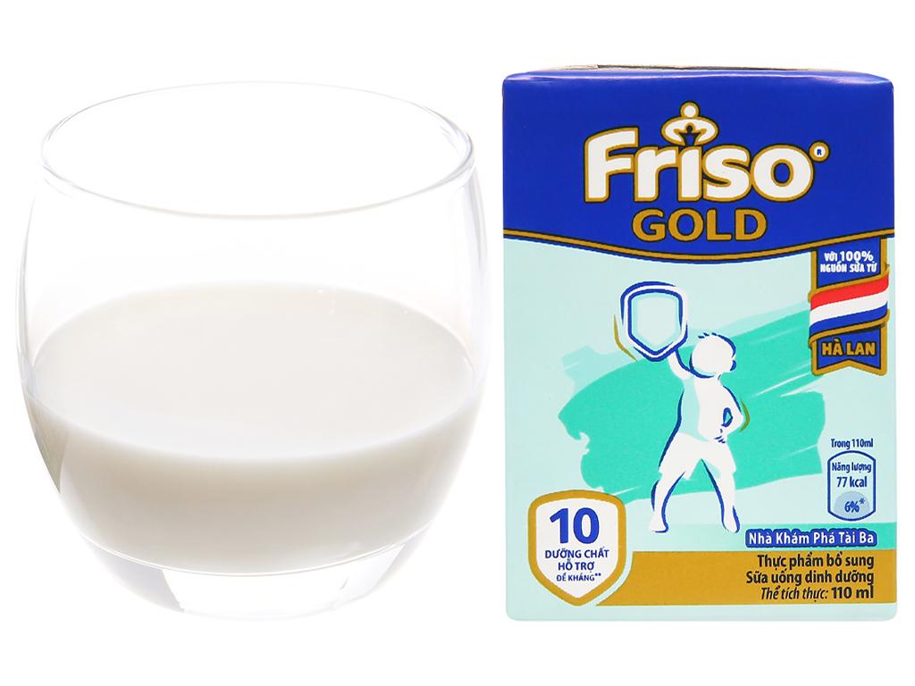 Lốc 4 hộp sữa uống dinh dưỡng Friso Gold vani 110ml 12