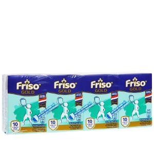 Lốc 4 hộp sữa uống dinh dưỡng Friso Gold vani 110ml
