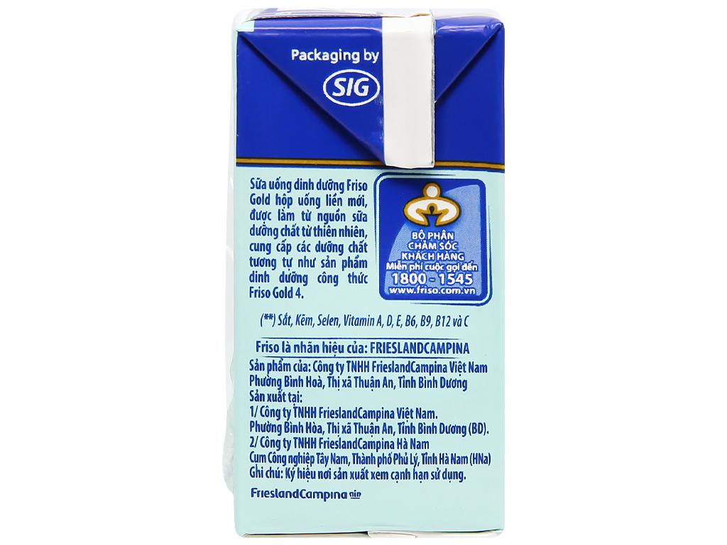 Thùng 48 hộp sữa uống dinh dưỡng Friso Gold vani 110ml 9