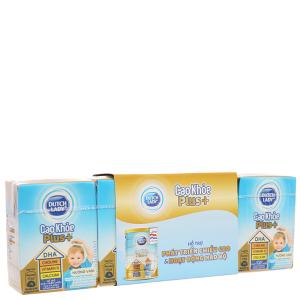 Lốc 4 hộp sữa bột pha sẵn Dutch Lady Cao Khỏe Plus+ 110ml