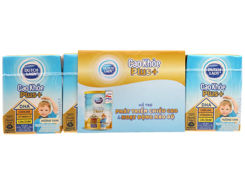 Lốc 4 hộp sữa bột pha sẵn Dutch Lady Cao Khỏe Plus+ 110ml 1