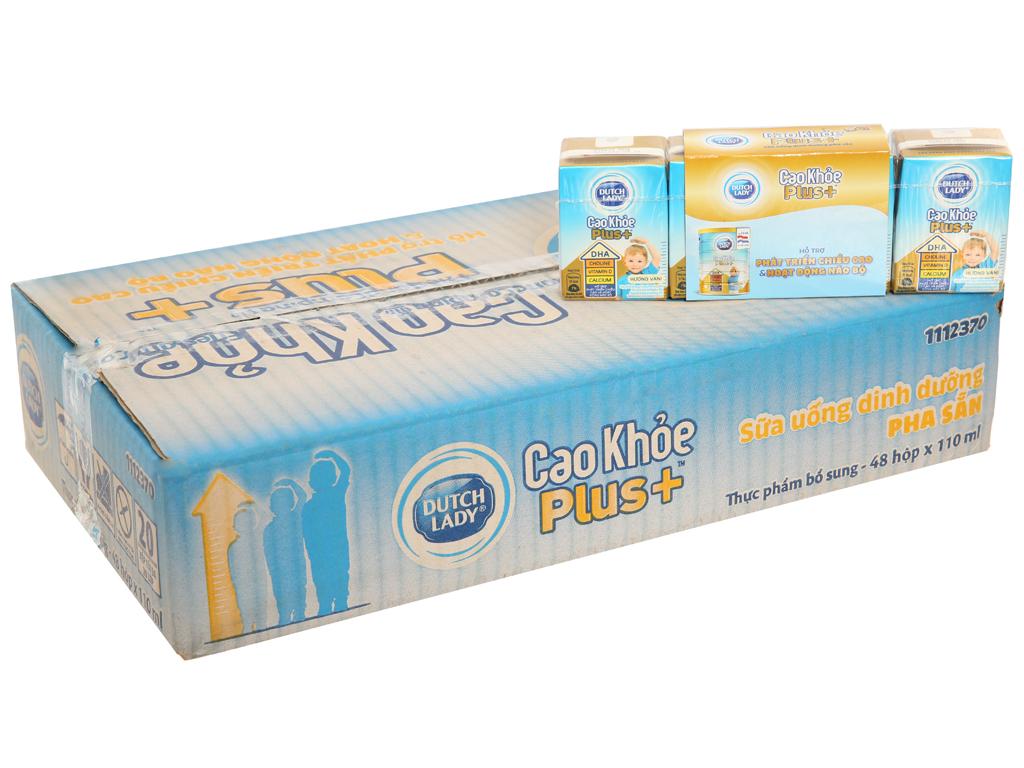 Thùng 48 hộp sữa bột pha sẵn Dutch Lady Cao Khỏe Plus+ 110ml 1