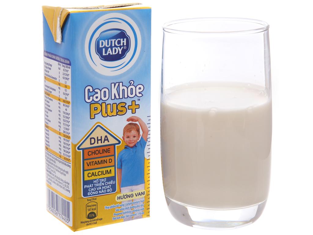 Thùng 48 hộp sữa bột pha sẵn Dutch Lady Cao Khỏe Plus+ vani 170ml 2