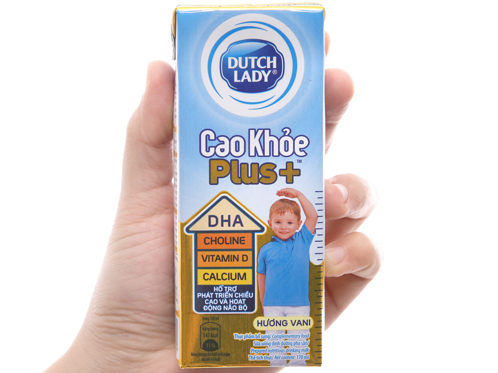 Thùng 48 hộp sữa bột pha sẵn Dutch Lady Cao Khỏe Plus+ vani 170ml 4