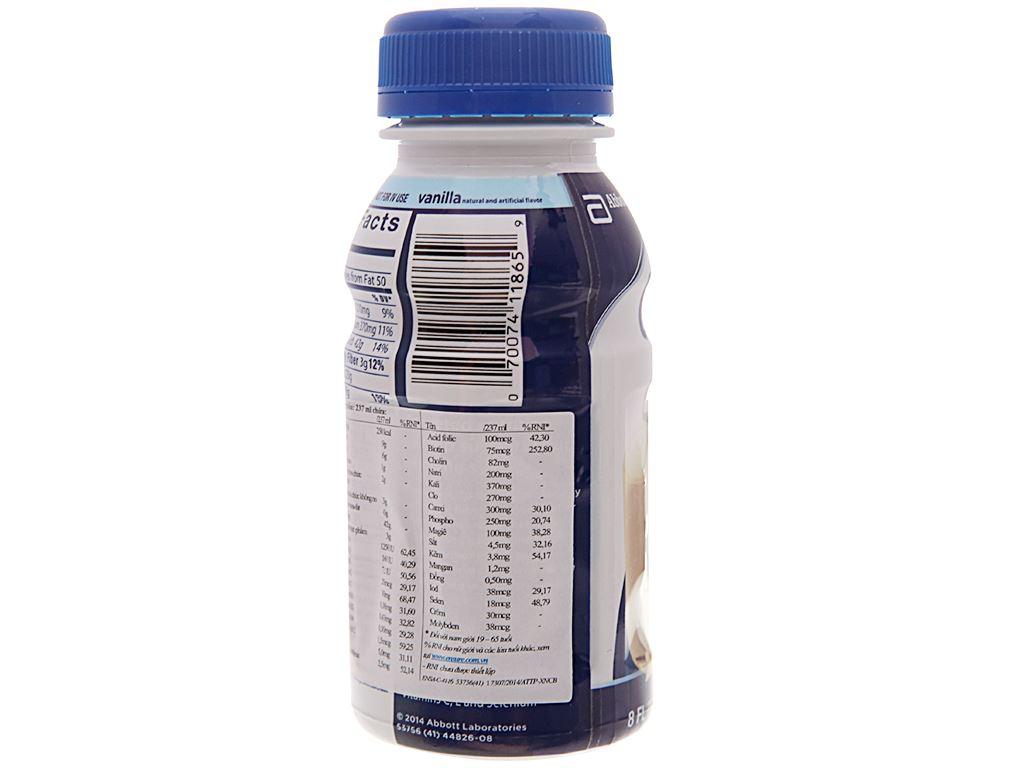 Thùng 24 chai sữa bột pha sẵn Ensure Original vani 237ml 4