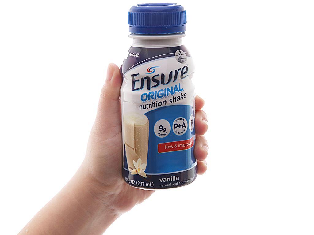 Thùng 24 chai sữa bột pha sẵn Ensure Original vani 237ml 2