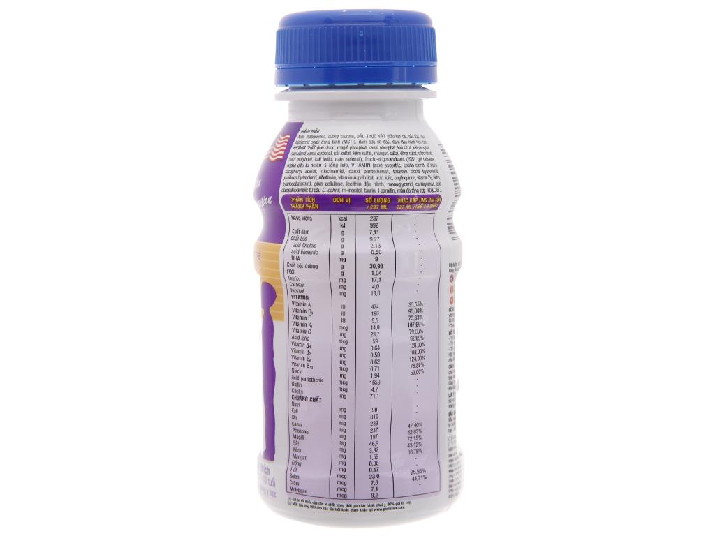 Sữa bột pha sẵn Abbott PediaSure dâu chai 237ml 2