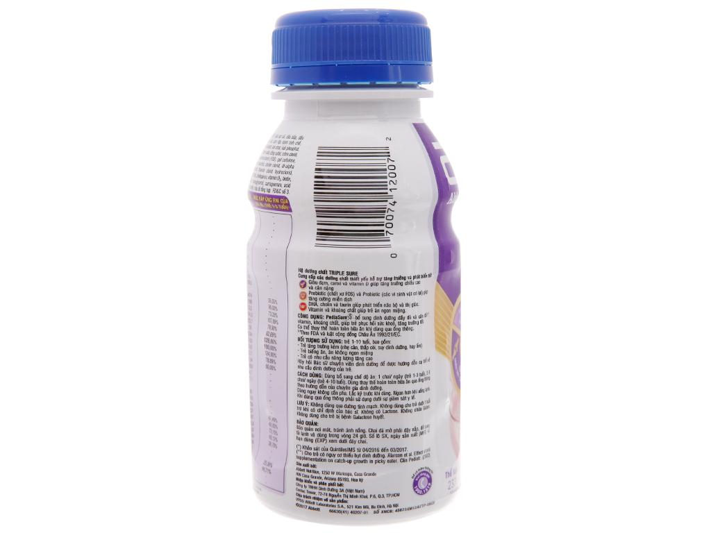 Sữa bột pha sẵn Abbott PediaSure dâu chai 237ml 3