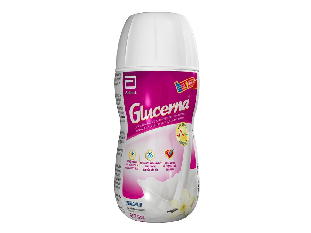 Sữa bột pha sẵn Glucerna vani 220ml (cho người tiểu đường) 1