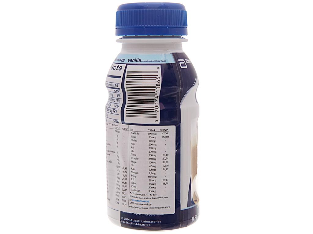 Sữa bột pha sẵn Ensure Original vani chai 237ml 4