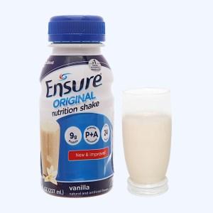 Sữa bột pha sẵn Ensure Original vani chai 237ml