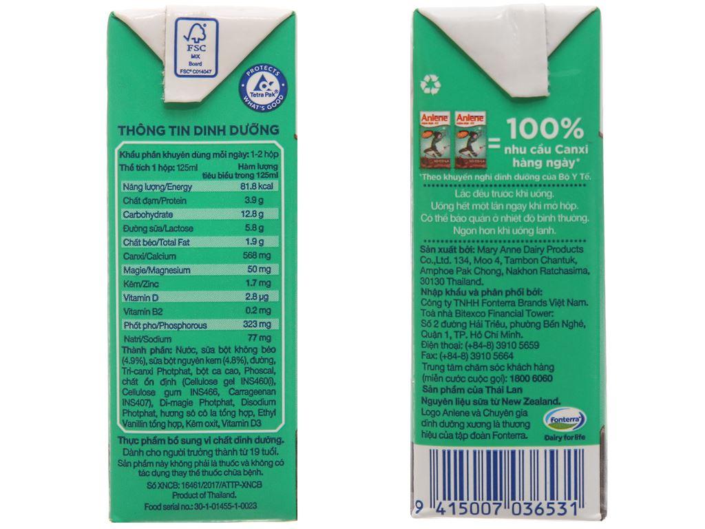Thùng 48 hộp sữa bột pha sẵn Anlene Đậm đặc 4X socola 125ml 3