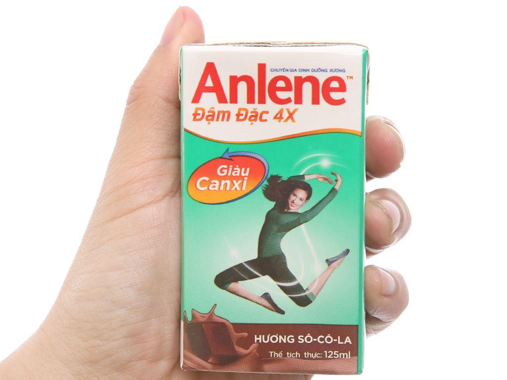 Thùng 48 hộp sữa bột pha sẵn Anlene Đậm đặc 4X socola 125ml 4