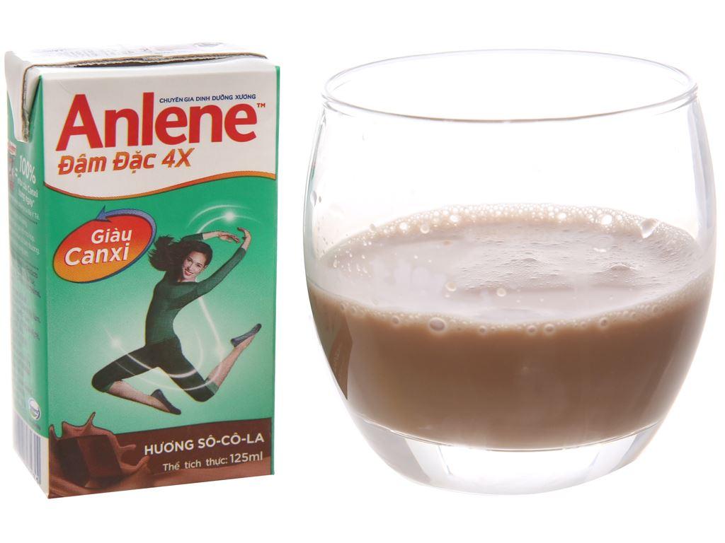 Thùng 48 hộp sữa bột pha sẵn Anlene Đậm đặc 4X socola 125ml 2