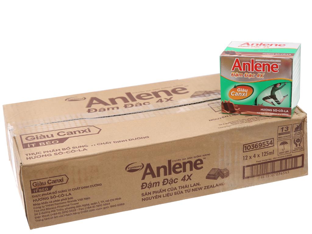 Thùng 48 hộp sữa bột pha sẵn Anlene Đậm đặc 4X socola 125ml 1