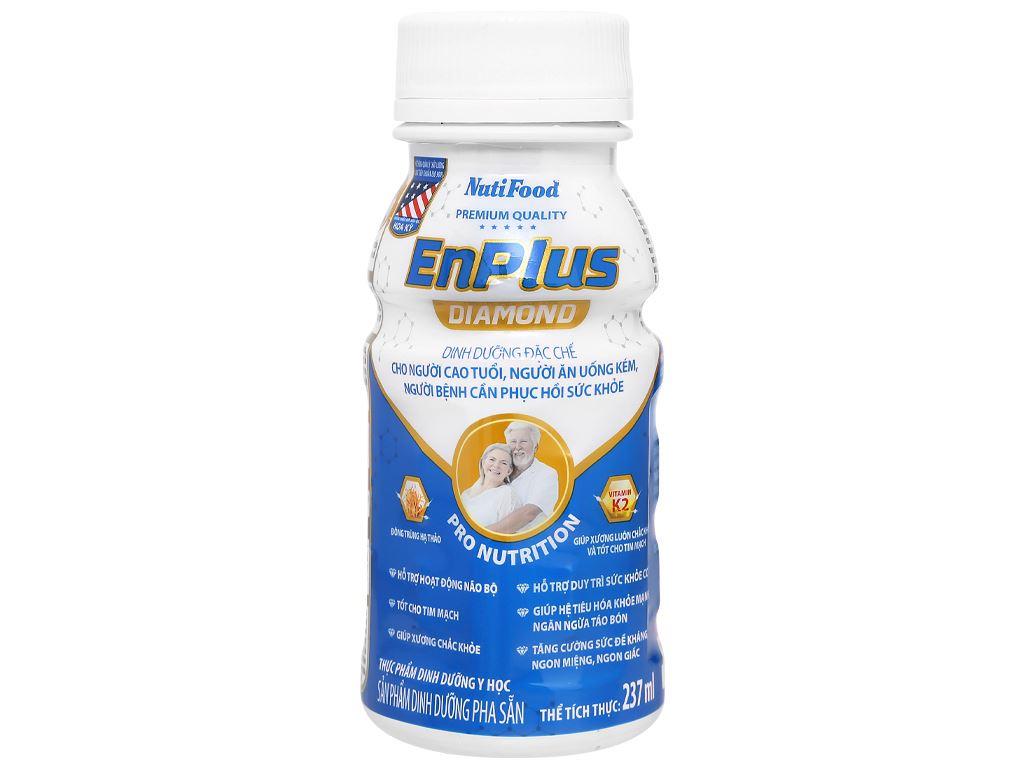 Thùng 24 chai sữa pha sẵn NutiFood EnPlus Diamond 237ml 2
