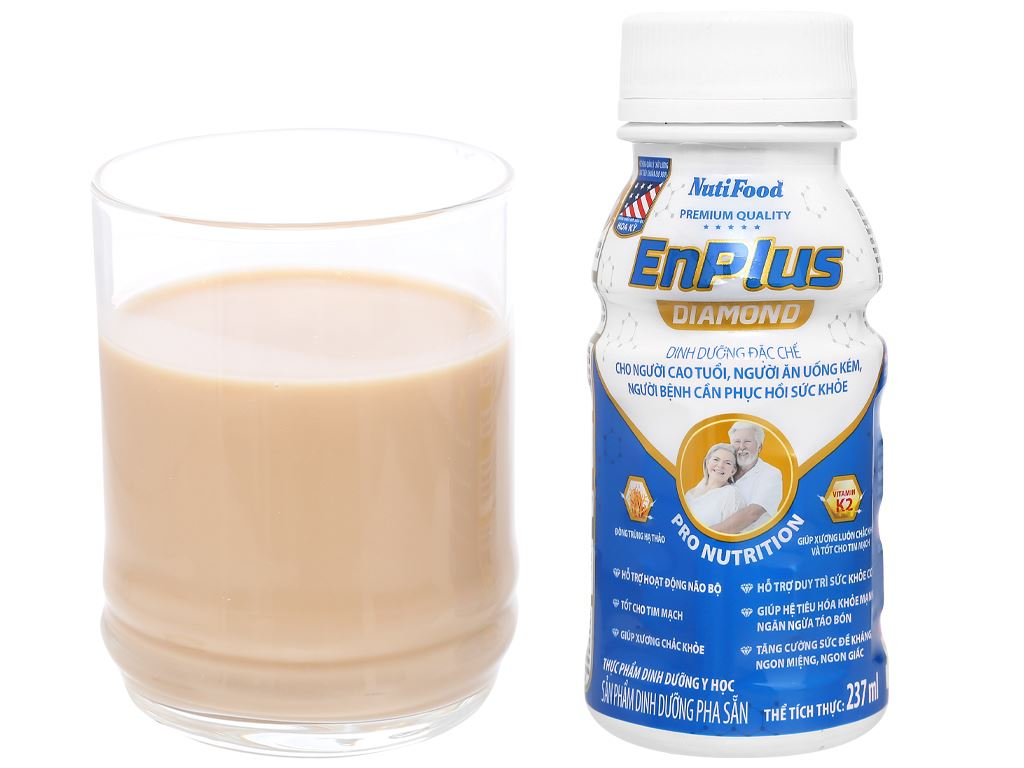 Thùng 24 chai sữa pha sẵn NutiFood EnPlus Diamond 237ml 8