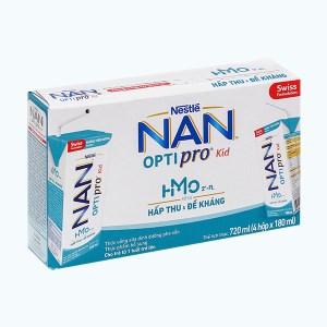 Lốc 4 hộp sữa uống dinh dưỡng Nestlé Nan Optipro Kid 180ml