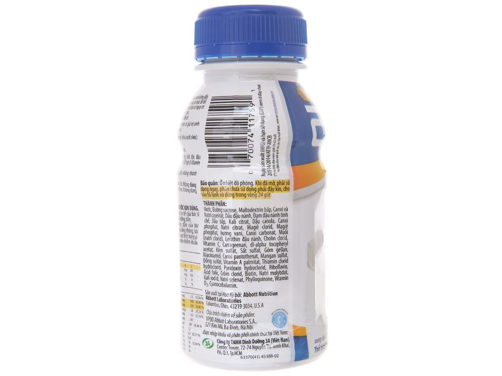 Sữa bột pha sẵn Ensure Gold Vigor vani chai 237ml 2