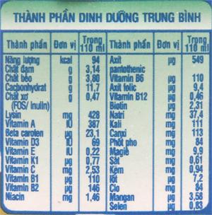 Sữa bột pha sẵn NutiFood Grow Plus+ vani 110ml 6