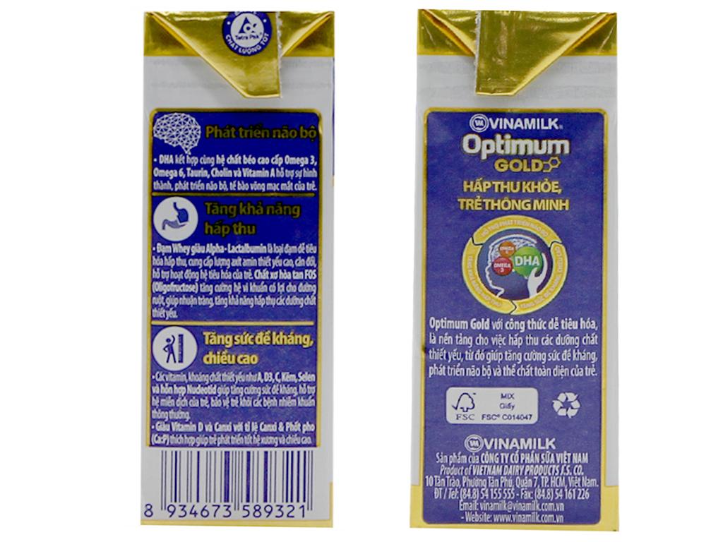Sữa bột pha sẵn Vinamilk Optimum Gold 110ml 2