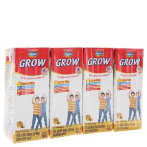 Lốc 4 hộp sữa bột pha sẵn Dielac Grow 180ml